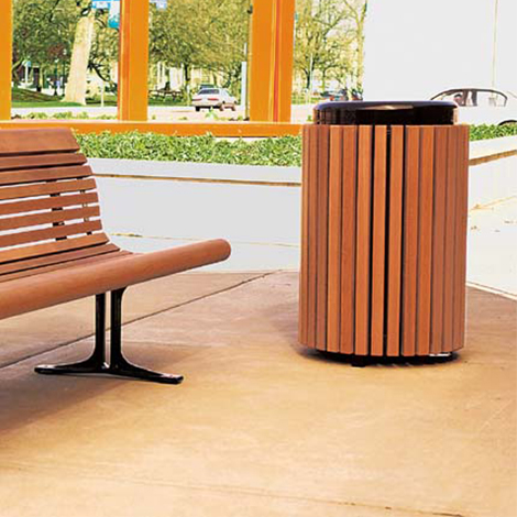 Gretchen Litter Bin Street Furniture Uk