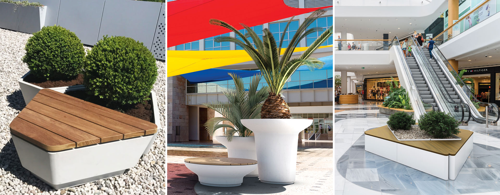 Create Unified landscapes with our 2 in 1 Planter/Seating Range