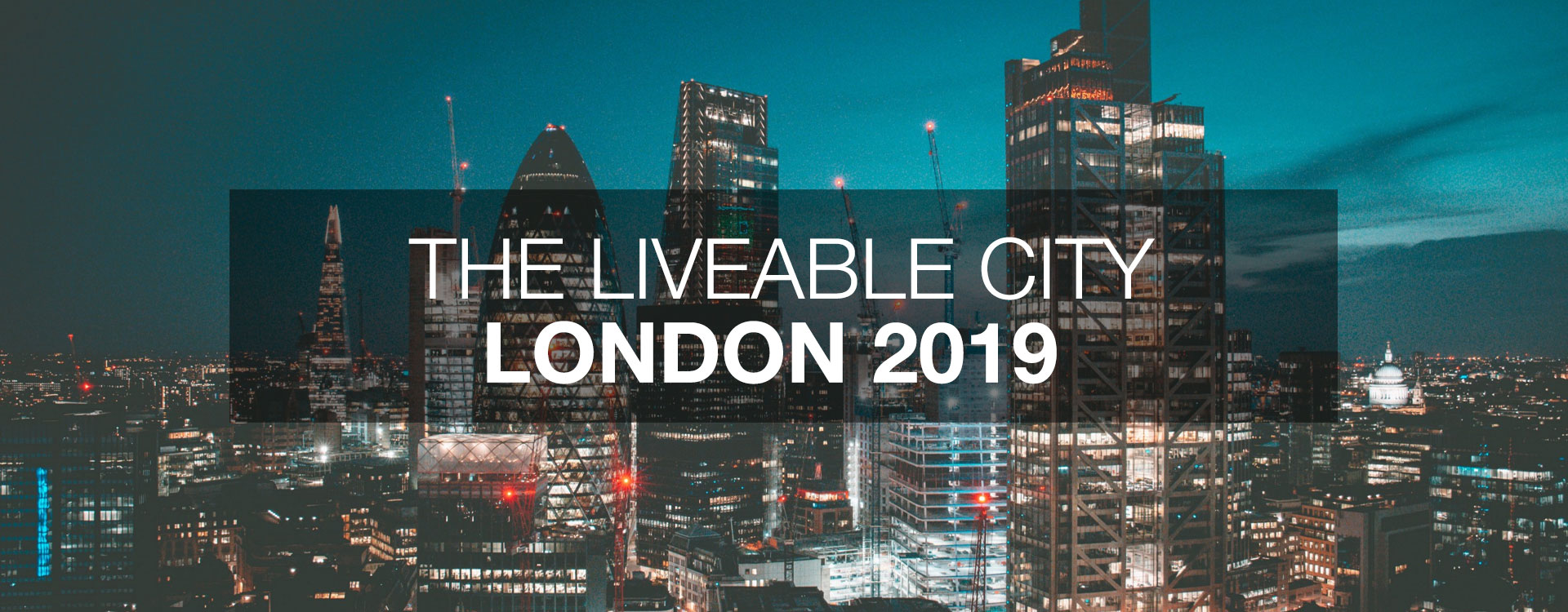 The Liveable City - London 18th-20th June 2019
