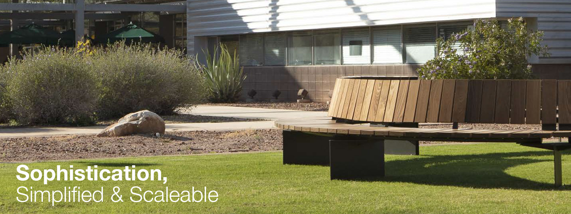 Introducing Link, an innovative and highly flexible outdoor seating system.