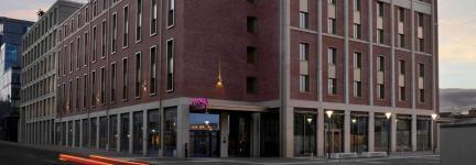 I-Box concrete benches for New Moxy Hotel in Edinburgh