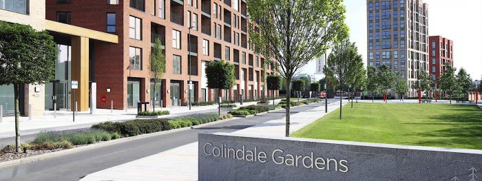 Stylish litter bins for luxury homes at Colindale Gardens, London
