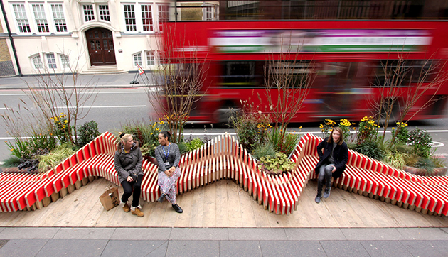 The Parklet Bench by WMB Studio