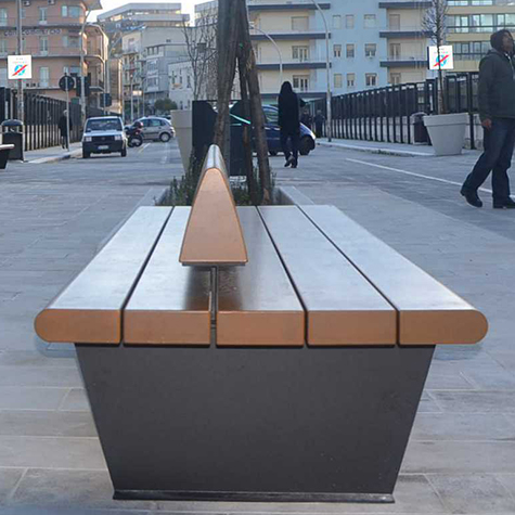 Canape double bench street furniture uk for Canape display equipment