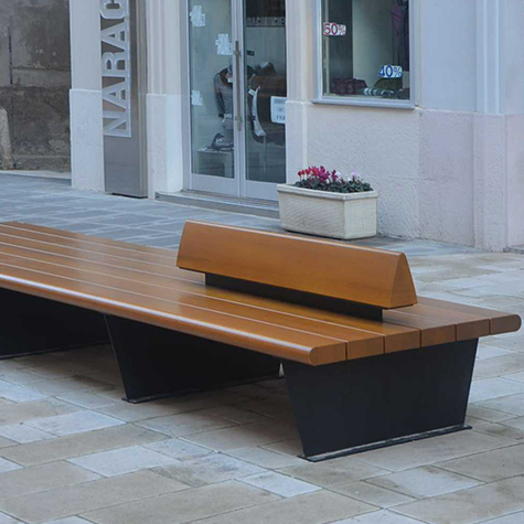 Canape double bench street furniture uk for How to make canape cases